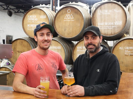 Hudson Valley Brewery brewmaster Michael Renganeschi and founder John-Anthony Gargiulo at the brewery in Beacon March 9, 2017.