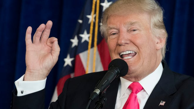 Republican presidential candidate Donald Trump during a news conference Wednesday.