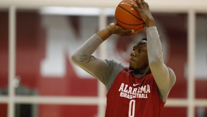 Men's basketball workouts with Tevin Mack, who came to Alabama from the University of Texas..