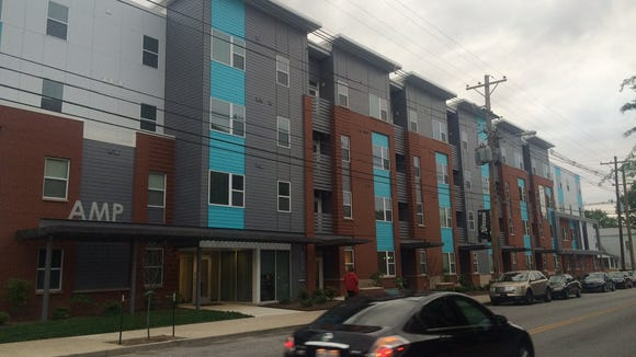 New AMP apartment building on Frankfort Avenue.