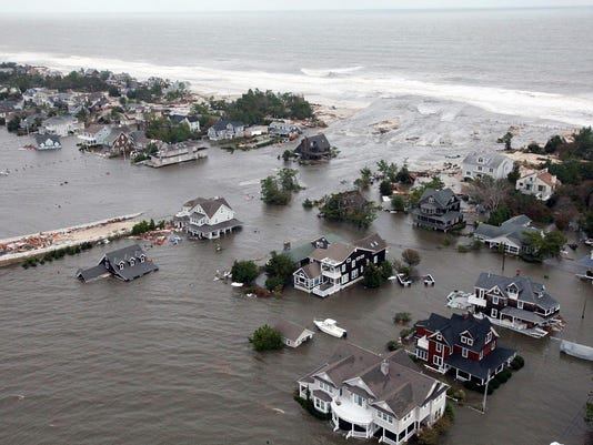 Aerial view after Sandy