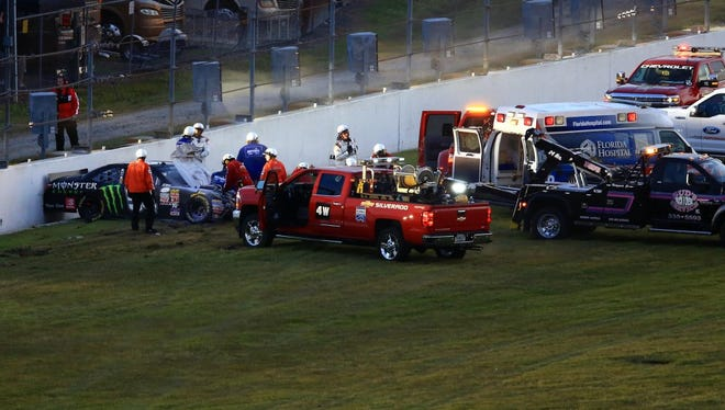 All NASCAR tracks underwent a safety review after Kyle Busch broke his right leg and left foot in a Feb. 21 crash into a concrete wall at Daytona.