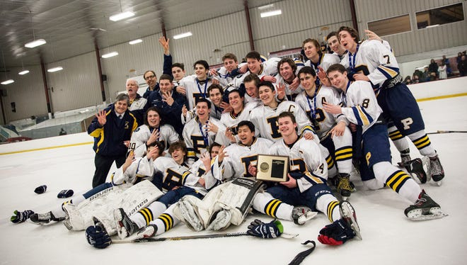 Pelham wins the Section 1 Division II championship title against John Jay in a 6-1 win at the Brewster Ice Arena in Brewster, February 26, 2017