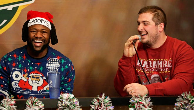 Green Bay Packers running back Ty Montgomery co-hosted Monday's Clubhouse Live in downtown Appleton. Montgomery's guest was center Corey Linsley. Watch a replay of the show at clubhouselive.com.