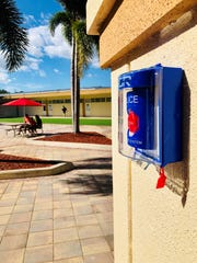 Pictured is an ASR system placement on an outside building at Jupiter Christian School.