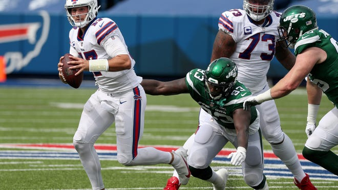As much as Josh Allen did right for the Bills in Sunday's win, the quarterback pointed to his two lost fumbles and said he has to be better at taking care of the football.
