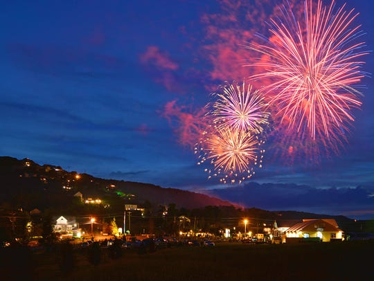 The Beech Mountain fireworks display on the Fourth