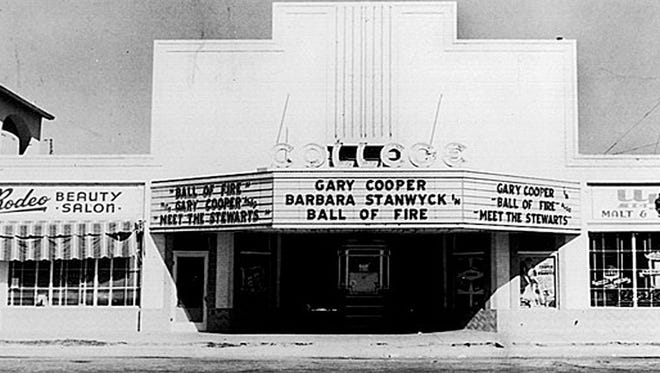 The College Theater, now known as the Valley Art Theater at 509 S. Mill in Tempe.