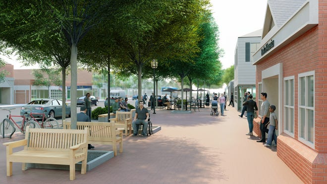 The architectural renderings of Lexington center after the Streetscape project is completed.