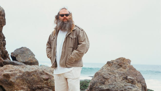 Producer Rick Rubin, photographed on the beach in Malibu, has worked with artists from Johnny Cash to Run-D.M.C. and Tom Petty.