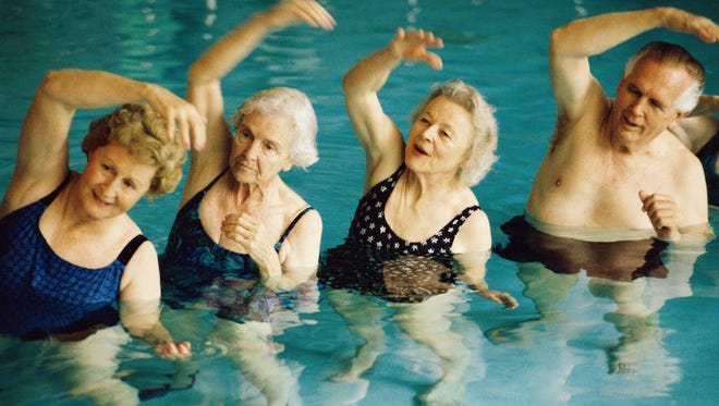 Swimming or even movement in the water is terrific exercise for seniors.