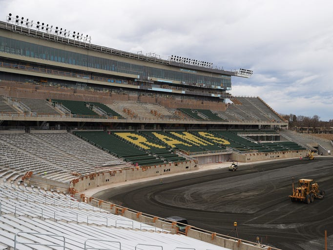 Construction of Colorado State University's on-campus