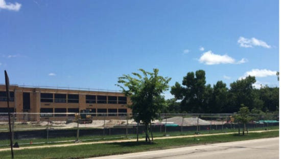 Excavation started this summer for the new parking lot at Glenwood Elementary School, 3550 S. 51st St.