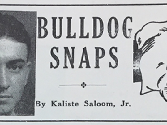 Saloom's sports column appeared weekly in The Vermilion.