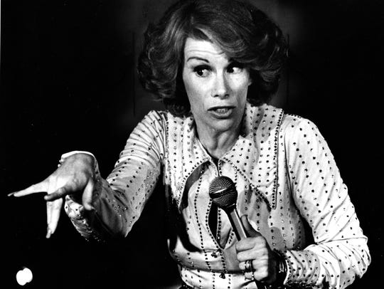 Joan Rivers performs in Milwaukee in 1975.