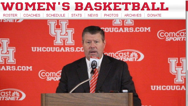 Todd Buchanan, in a screen capture from the University of Houston website.
