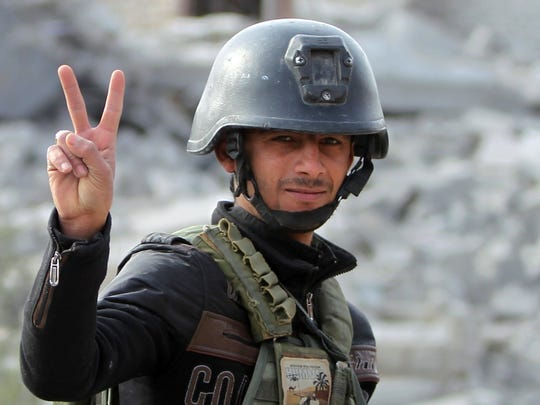 A member of Iraq's elite counter-terrorism service