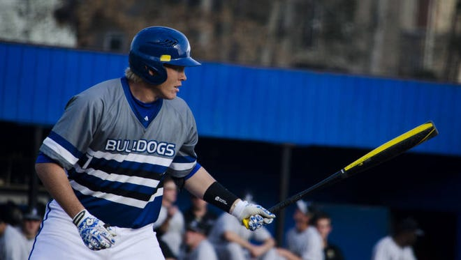 Erwin alum Hunter Bryant is one of eight former Western North Carolina high school baseball players on UNC Asheville's roster.