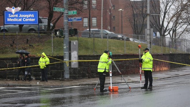 Yonkers police conduct an investigation after a child was killed at South Broadway and Vark Street in Yonkers, Dec. 29, 2016.