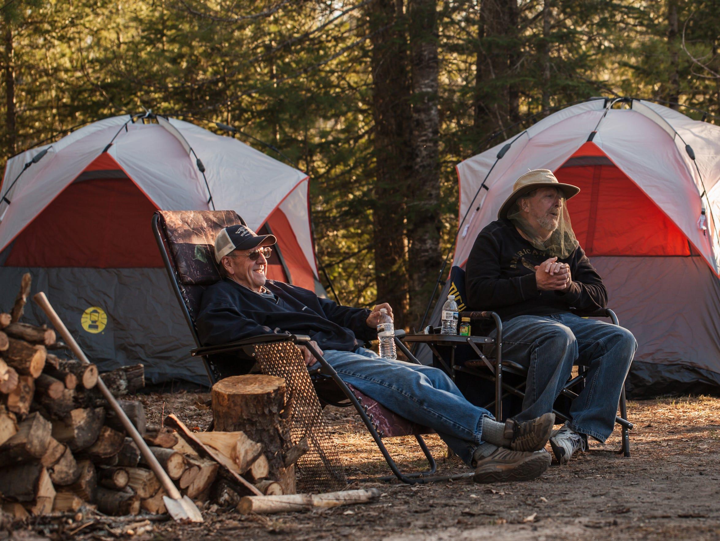 Dale Kennicott (left), 68, of West Branch and Ed Ptasznik,