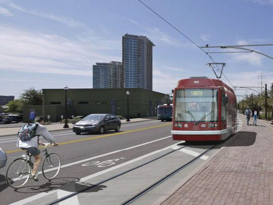 A Valley Metro rendering shows what a future streetcar
