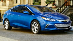 The all-new 2016 Chevrolet Volt electric car with extended