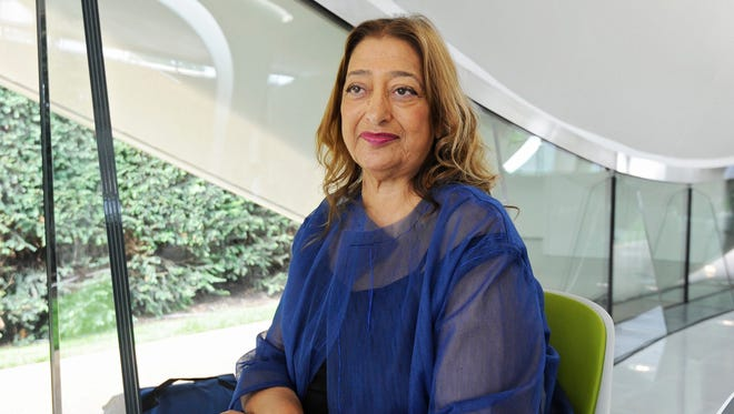Iraqi-British architect Zaha Hadid inside the newly constructed Serpentine Sackler Gallery in London in 2013.