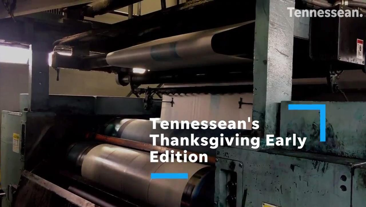 Hot off the presses and straight to you - all a day early! The Tennessean's early Thanksgiving edition, the biggest paper of the year with Black Friday sales and more, is coming to a local news rack the day before Thanksgiving.