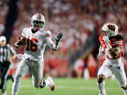 Ohio State quarterback J.T. Barrett  has tortured the Lions the past two years with his running as much as his thowing. Now, the Lions must elevate their open-field tackling to stand a chance against Barrett and company.