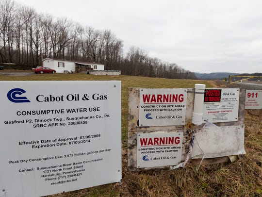 Pennsylvania officials found Cabot Oil & Gas was responsible for polluting water wells at homes in Dimock Pennsylvania. This home, owned by Ron and Jean Carter in 2009, was among the high-profile case.