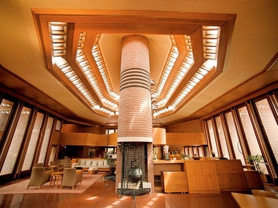 Wingspread, also known as the Herbert F. Johnson House, is a house designed by architect Frank Lloyd Wright and built in 1938-39 near Racine.