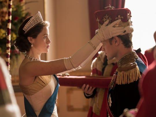 Claire Foy as Elizabeth II and Matt Smith asPrince