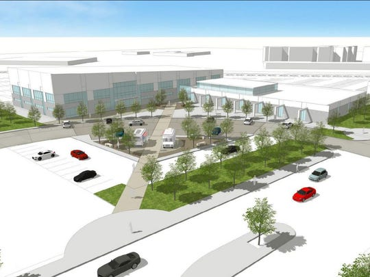 A mock-up of a potential design of the Salinas public safety center.