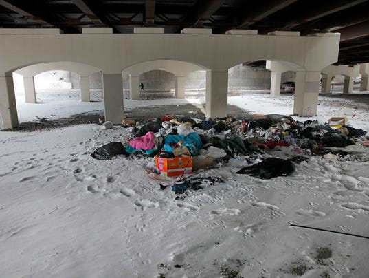 Andreatta Tent City Trash Tries Patience For Homeless