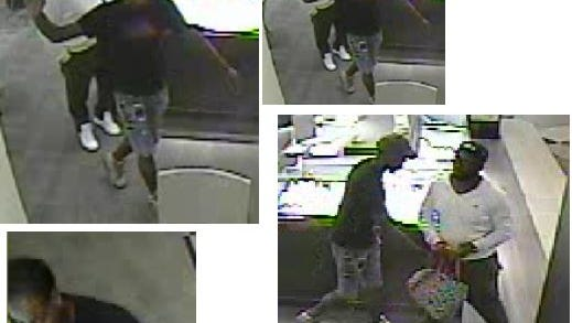 Police asked for the public's help identifying suspects in a robbery at the Battlefield Mall.