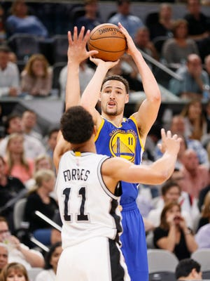 Someone has got to be open in the Warriors offense and if it's Thompson it's hard to believe he will continue to struggle.