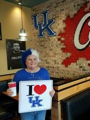 Pamela Jackson and her husband, Richard, have traveled the country for Kentucky games for years, but after Pamela got breast cancer in 2012, living took on new meaning. Now the couple dress up for games, bringing a little more flare to them.