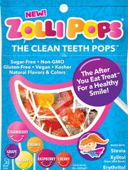 Zollipos are billed as the Clean Teeth Pops created by Alina Morse from a Michigan