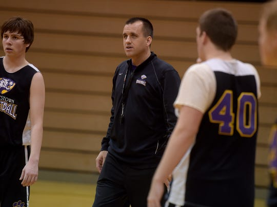 Hagerstown High School boys basketball Coach Bobby
