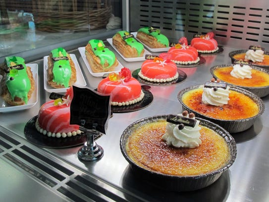 Creme brulee and pastries at La Colmar Bakery & Bistro,