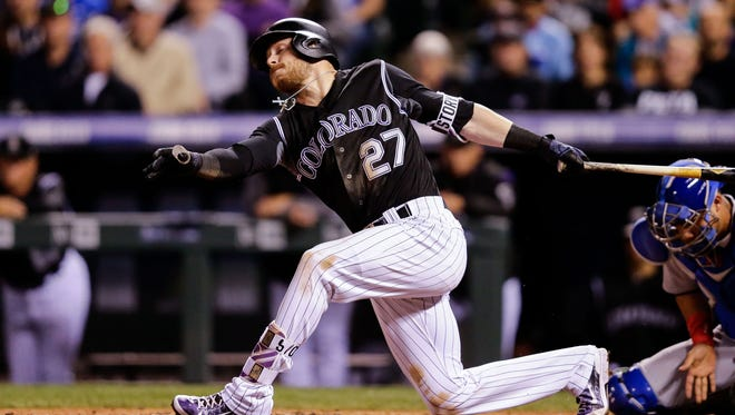 Although he hit 24 home runs, Rockies shortstop Trevor Story led the majors with 191 strikeouts in 2017.