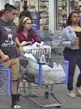 Police are looking for three people they say might have information about someone shooting a gun Thursday, Sept. 7, 2017, in a Wal-Mart parking lot.