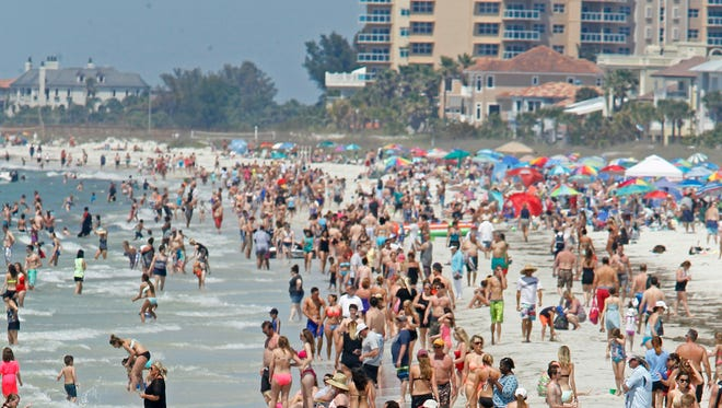 A photo of Clearwater Beach near the Tampa Bay area on March 31, 2015.