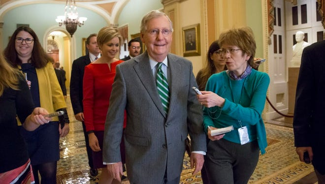 Senate Majority Leader Mitch McConnell on March 16, 2016.