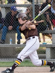 Golden West's Payton Allen bats against Lemoore in a West Yosemite League high school baseball game on Tuesday, May 1, 2018.
