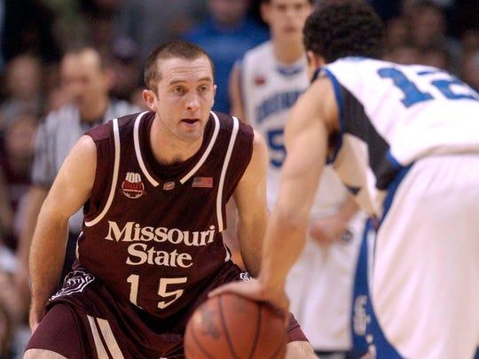 Missouri State's Blake Ahearn defends Creighton's Josh