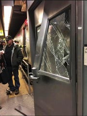 Emergency personnel work at the scene at Atlantic Terminal after New York City authorities said a Long Island Rail Road train hit a bumping block at the station in  Brooklyn, Wednesday, Jan. 4, 2017.