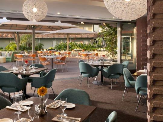 The dining room at ZuZu at Hotel Valley Ho.