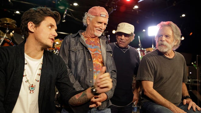 Dead & Company (from left, John Mayer, Bill Kreutzmann, Mickey Hart and Bob Weir) hit the road in 2016 and 2017.
