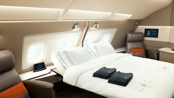 Two of the six suites in Singapore Airlines new Airbus